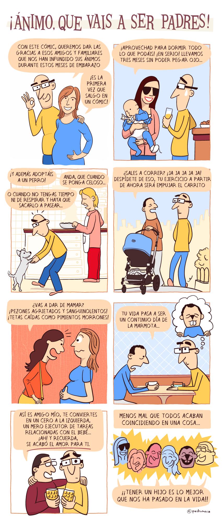 Ánimo, que vais a ser padres